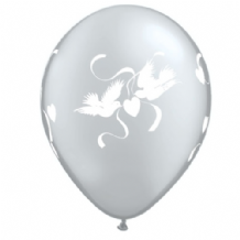 Wedding Balloons Doves (Clear) - 11 Inch Balloons 25pcs